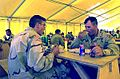 20020529 - U.S. Army soldiers eating breakfast at Bagram Air Base in May 2002.jpg