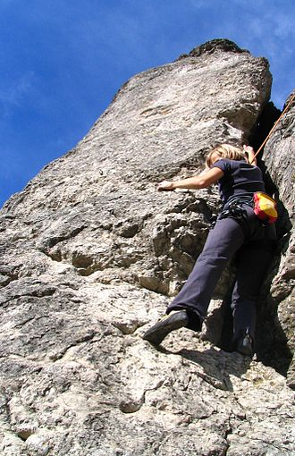 Franconian Switzerland - Rock climbing at the Eulenwand near Tiefenellern