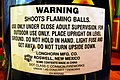 2006-08-24 - Road Trip - Day 32 - United States - Indiana - Shelton Fireworks - Sign - Warning Shoot 4889701782.jpg