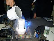 Liquid nitrogen may be used for cooling an overclocked system, when an extreme measure is needed.