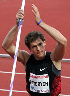 Petr Frydrych Czech Olympic athlete and javelin thrower