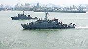 ROKS Ongjin (Yangyang class) and ROKS Goryeong (Ganggyeong class) on background