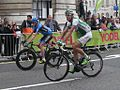 2013 Tour of Britain 181 Dan Martin (Garmin-Sharp) and 8 Jimmy Engoulvent (Sojasun).jpg