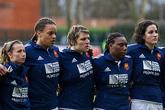 France women's national rugby union team - Image: 2014 W6N France vs Italy 5506
