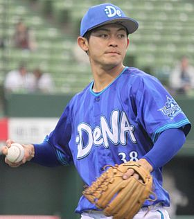 20150322 Kouki Yamasita infielder of the Yokohama DeNA BayStars, at Seibu Prince Dome.JPG