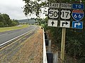 2016-09-28 15 16 43 View south along U.S. Route 17 and east along U.S. Route 50 (John Mosby Highway) at Federal Street in Paris, Fauquier County, Virginia.jpg