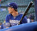 2016-10-22 Chase Utley Dodgers bating practice.jpg