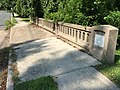 2017-09-05 11 13 23 View west along the sidewalk on the bridge over the West Branch Shabakunk Creek connecting Central Avenue to Glen Clair Drive in Ewing Township, Mercer County, New Jersey.jpg