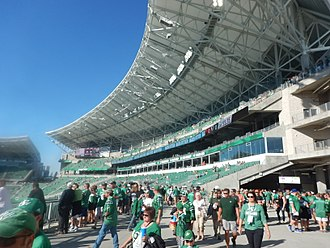Mosaic Stadium - Interior and grandstand.