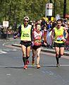 2017 London Marathon - Mikhoko Nishijima & Aaron Scott.jpg