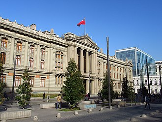 Politics of Chile - The Palacio de los Tribunales de Justicia de Santiago.