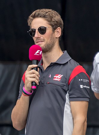 Romain Grosjean - Grosjean at the 2017 United States Grand Prix.