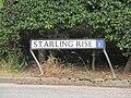 2018-07-11 Street name sign, Starling Rise, Sidestrand.JPG