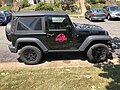 2018-07-12 12 17 21 Jeep with the Jurassic Park logo along Elevation Lane in the Franklin Farm section of Oak Hill, Fairfax County, Virginia.jpg
