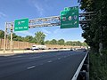 2018-07-31 07 54 51 View west along Interstate 80 at Exit 39 (EAST U.S. Route 46, TO New Jersey State Route 53, Denville) in Denville Township, Morris County, New Jersey.jpg