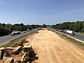 2019-06-24 10 56 20 View south along Interstate 95 and U.S. Route 17 from the overpass for Virginia State Route 3 (Plank Road) in Fredericksburg, Virginia.jpg