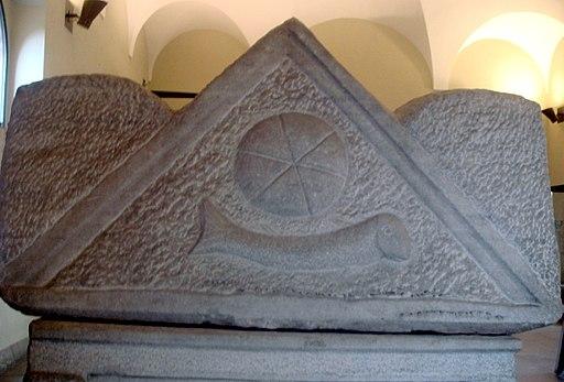 2061 - Milano, Castello sforzesco - Sarcofago tardoromano, cristiano - Foto Giovanni Dall'Orto, 14-Feb-2008