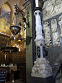 207 Basílica de Montserrat, canelobre de Rafael Solanic a l'escala de la Porta Angèlica.JPG