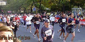 20 Kilomètres de Paris - Scene of the mass amateur race in 2004