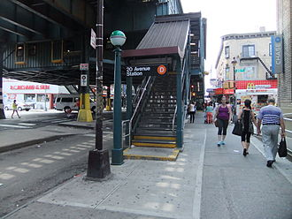 20th Avenue (BMT West End Line) - Southwestern stair