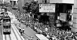 20th anniversary of Tiananmen Square protests of 1989 - The protest march along Hennessy Road, Hong Kong, 31 May 2009
