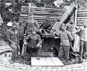 24 cm Mörser M 98 - The 24 cm Mörser M 98 with its crew