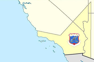 27th Air Division - Area of the 27th Air Division (1950-9) and subsequent 1959 Los Angeles Air Defense Sector