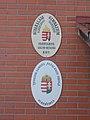 2 Győzelem Street, Budakalász high school sign, 2020 Albertirsa.jpg