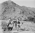 2 men on camels, Sinai Mts. (i.e., mountains) LOC matpc.09587 (cropped).jpg