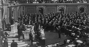 Joseph Gurney Cannon - Speaker Cannon presides over the House of Representatives during the 59th Congress, 1906.