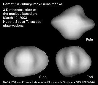 67P/Churyumov–Gerasimenko - Image: 67PNucleus