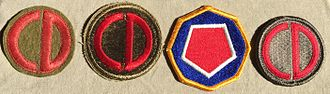 85th Infantry Division (United States) - Shoulder Sleeve Insignia authorized for the 85th Infantry Division.  World War I, World War II, 1970-1986, Present