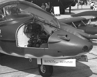 Cessna A-37 Dragonfly - A-37B Minigun in nose compartment