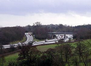 A46 road - The A46 junction for Stoneleigh and the University of Warwick