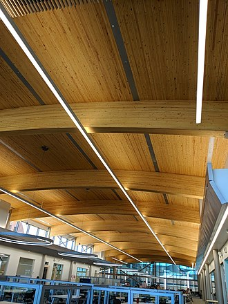 Algonquin College - AC Library open concept ceiling