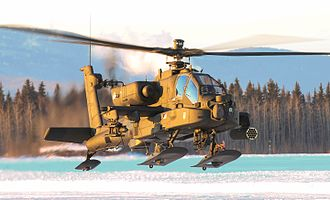 25th Infantry Division (United States) - A AH-64 from 1-25th ARB conducting arctic training at Fort Wainwright, Alaska