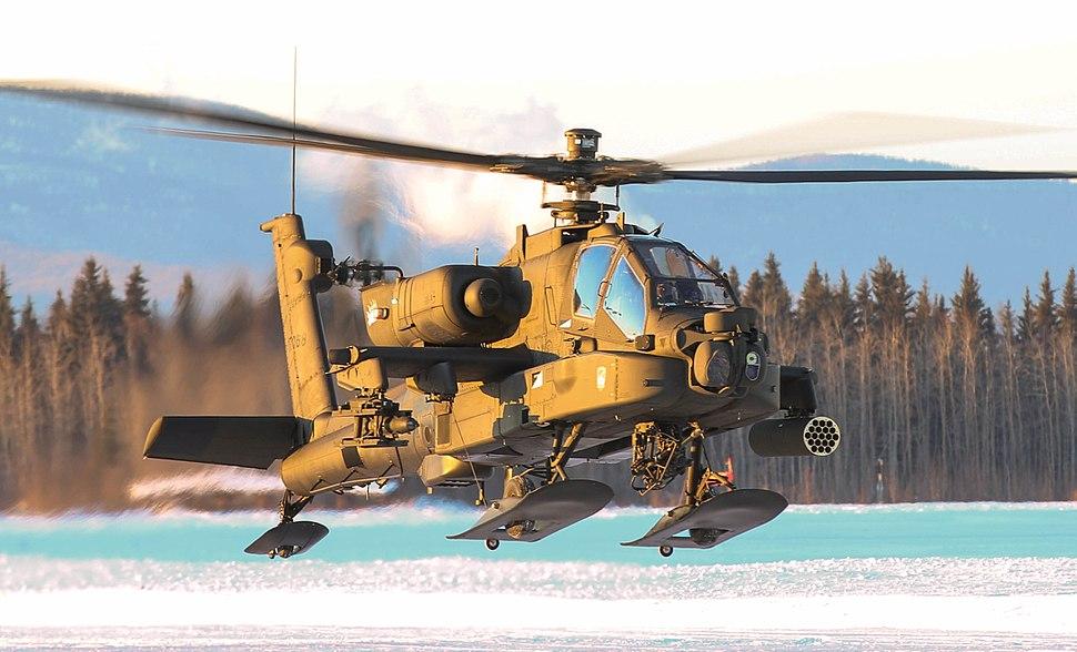 AH-64 Apache conducting pilot certification training Fort Wainwright