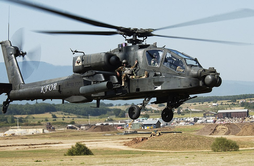 AH-64 Apache extraction exercise