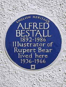 Alfred bestall 1892 1986 illustrator of rupert bear lived here 1936 1966