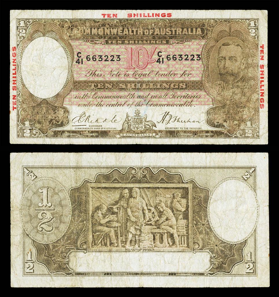 File Aus 20 Commonwealth Bank Of Australia 10 Shillings 1934 Jpg