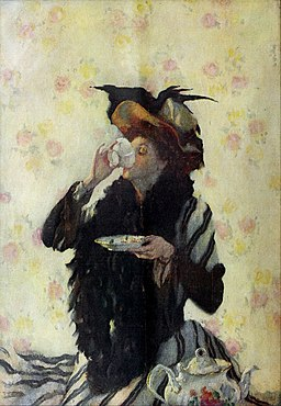 A Cup of Tea by Lilian Westcott Hale