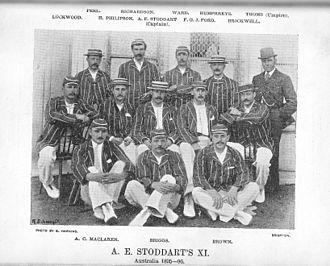 English cricket team in Australia in 1894–95 - Image: A E Stoddart's XI