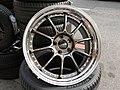 A Sliver motorcycle wheels in the vehicle wheels.jpg