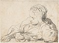 A Woman Asleep (recto); Landscape Composition with Well-Sweep (verso) MET DP122667.jpg