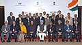 A group photographs of the NRI delegates with the Prime Minister, Dr. Manmohan Singh at the inaugural ceremony of the 6th Pravasi Bharatiya Divas-2008, in New Delhi on January 08, 2008.jpg
