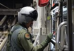 A loadmaster with No. 36 Squadron RAAF, opens the ramp of a C-17 Globemaster III.jpg