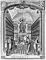 "A pharmacy, ""Microcosmus hypochondriacus"", Geiger, 1651 Wellcome L0014458.jpg"