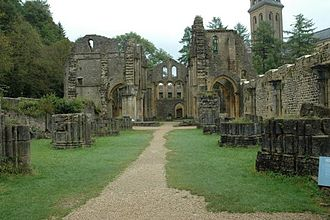 Orval Abbey - Orval Abbey Ruins.