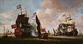 Abraham Storck - La flotte hollandaise dans la rade d'Amsterdam.jpg