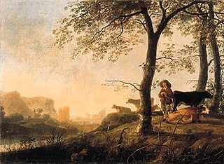 Herder and Cattle under Trees